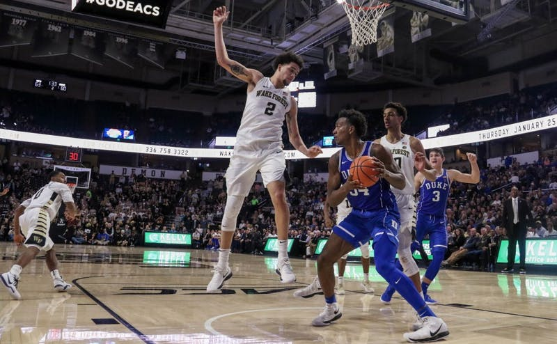 Wendell Carter Jr. led Duke with 23 points—the second-most of his career—and 12 rebounds for his third double-double in the last four games.