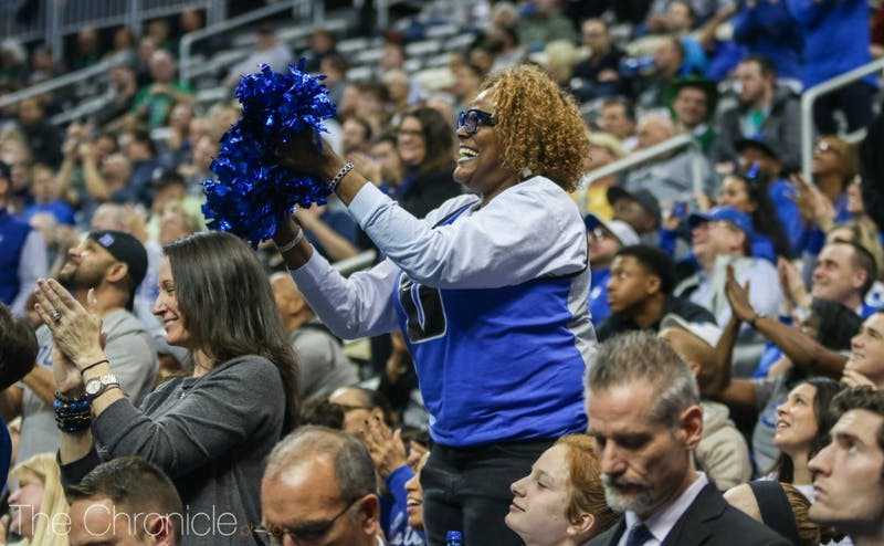 Kylia Carter, Wendell Carter Jr.'s mother, has been one of the most recognizable faces at every Duke game this season in the family section behind the Blue Devil bench.