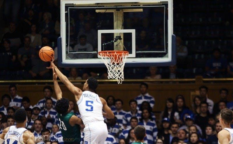 Jordan Tucker played just 14 minutes in his Duke career.