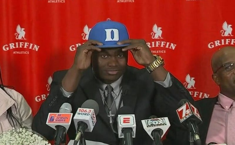 Zion Williamson joins R.J. Barrett and Cameron Reddish to give Duke the top three players in the Class of 2018.