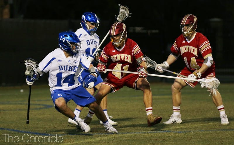 Justin Guterding's two goals could not lift Duke to a win in its quietest offensive performance of the season.
