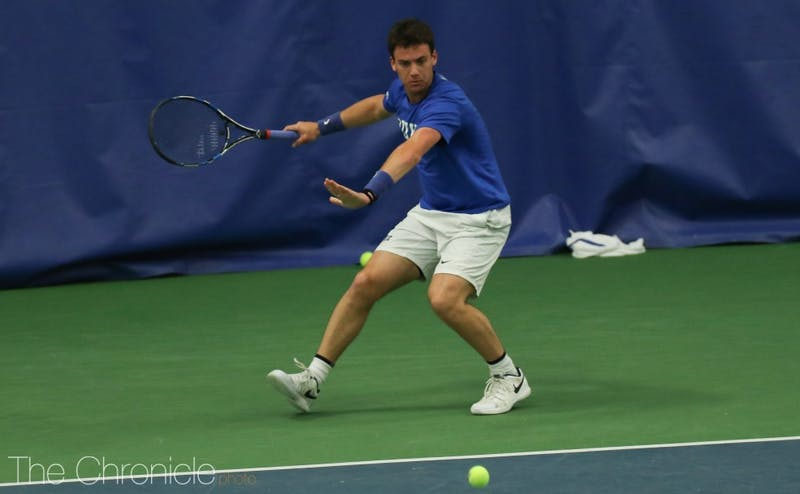 Robert Levine won both his singles matches in straight sets as one of Duke's lone bright spots in a winless weekend.