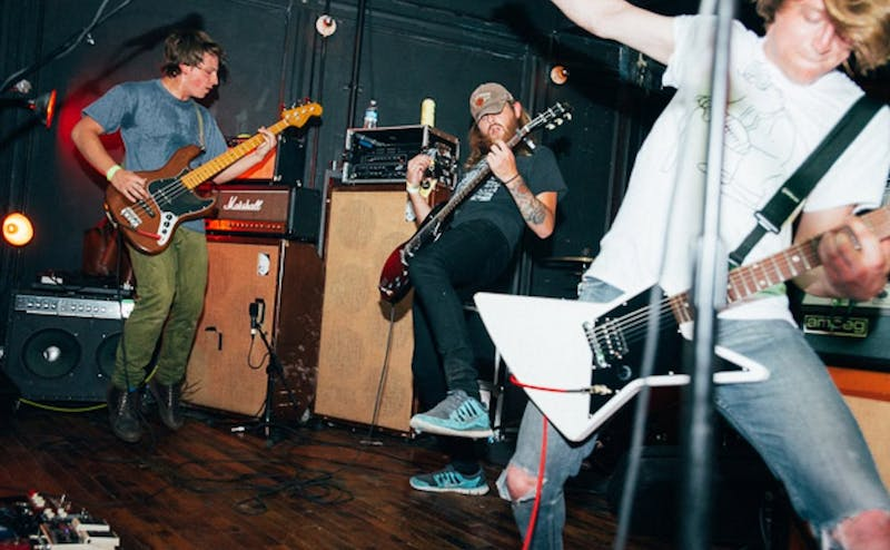 "Emo band Sorority Noise, pictured at a performance in 2009, released ""YNAAYT"" on Friday, a reworking of their 2017 album ""You're Not As ____ As You Think."""