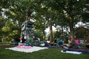 Students and community members began a 24/7 demonstration at Silent Sam on Aug. 22.