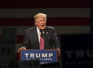 President Donald Trump spoke in the Greensboro Coliseum in June of 2016.