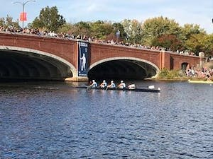 The North Carolina men's crew team competes at the 53rd Head of the Charles in Boston on Oct. 22. Photo courtesy of Barbara Lee Navarro