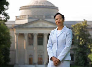Elaine L. Westbrooks will take office as the University librarian and vice provost for University Libraries during the coming school year. Photo taken by Jon Gardiner and courtesy of UNC.