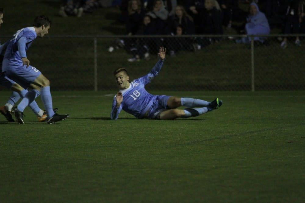 North Carolina men's soccer caps off regular season with 3-0 win