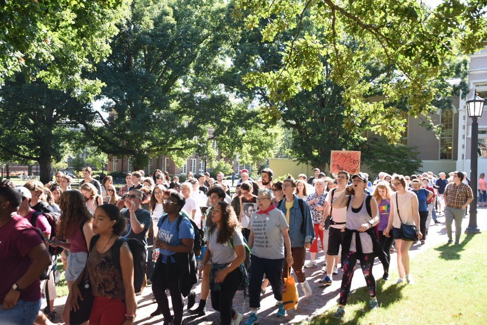 Students, faculty and community members march in anticipation of Center for Civil Rights BOG vote