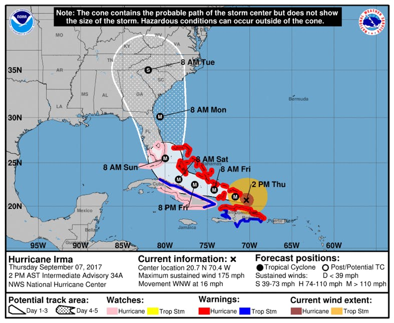 North Carolina prepares for Hurricane Irma