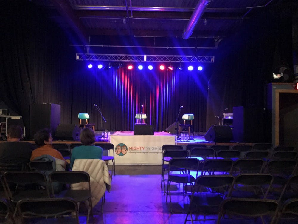 Carrboro mayoral debate between Mike Benson and Lydia Lavelle held at Cat's Cradle