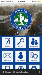 Chapel Hill Connect, an app that allows residents to report non-emergency issues to the Town of Chapel Hill, was released on Thursday, May 17.