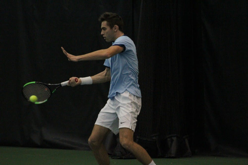UNC men's tennis can't adjust to loud crowd, outdoor conditions in 4-3 loss to Texas