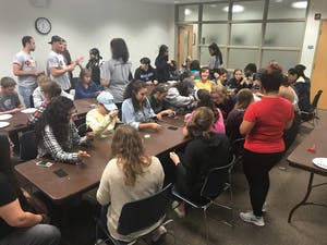 UNC senior Cheyenne McNeill hosted a workshop on beading as a part of National American Indian Heritage Month. Photo courtesy of Cheyenne McNeill.