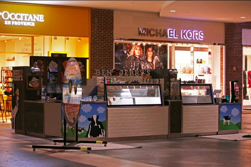 Ben and Jerry's opened a new location at Southpoint Mall in Durham, NC.