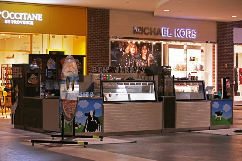 Ben and Jerry's opened a new location at Southpoint Mall in Durham, NC