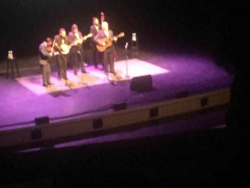 The Del McCoury Band performs at Memorial Hall.