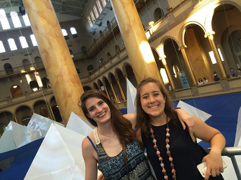 UNC seniors Elinor Solnick and Grace Buie are trying to help students find their missed connections with a new dating podcast called Match Me UNC.