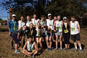 The UNC Marathon Team poses for a picture. Photo courtesy of Arden Bentley.