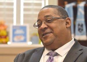 Vice Chancellor Winston Crisp spoke at the University Affairs Committee meeting on Jan. 30. Photo by Cori Patrick.