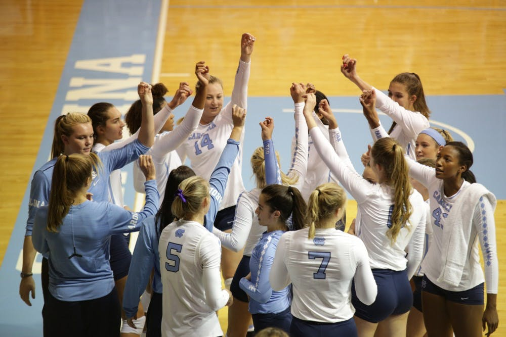 North Carolina volleyball notches first win in home opener