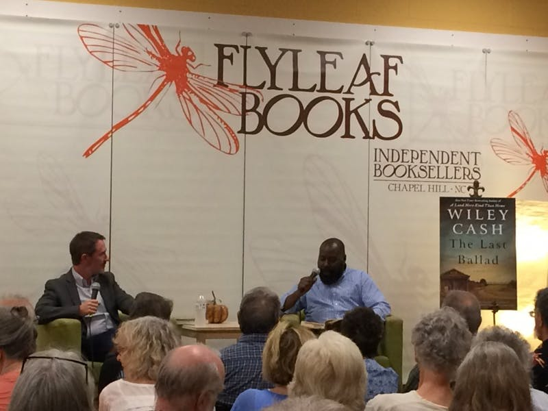 """Author Wiley Cash spoke at Flyleaf Books about his new novel, """"The Last Ballad."""""""