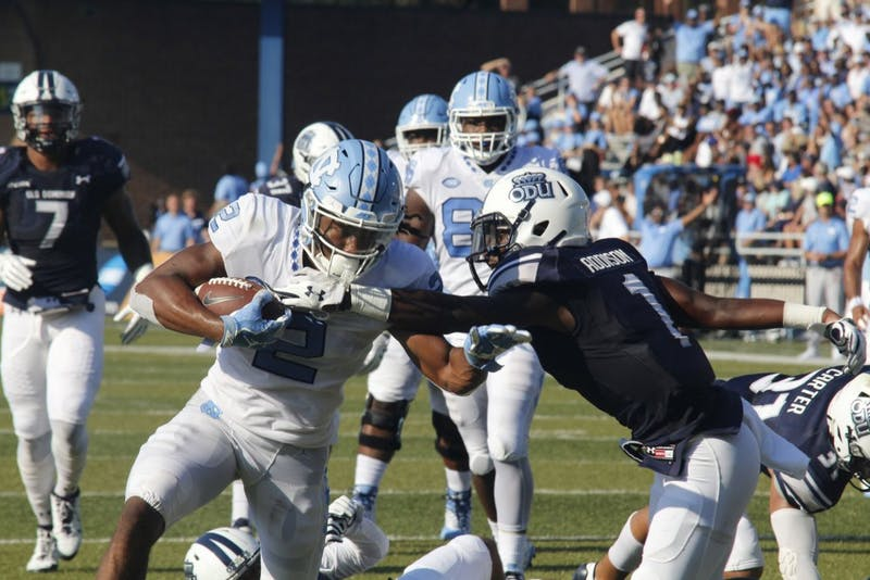 Tar Heels dominate Old Dominion on the ground in first win of season