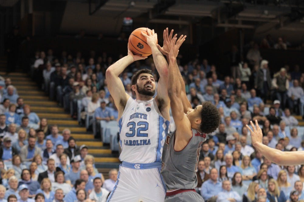 Another Luke Maye career night leads No. 20 North Carolina past Boston College, 96-66