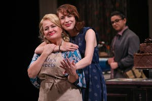 """Christine Mirzayan, Julia Gibson and Jenny Latimer star in PlayMakers Repertory Company's production of """"The Cake"""" by Bekah Brunstetter. Photo courtesy of HuthPhoto."""
