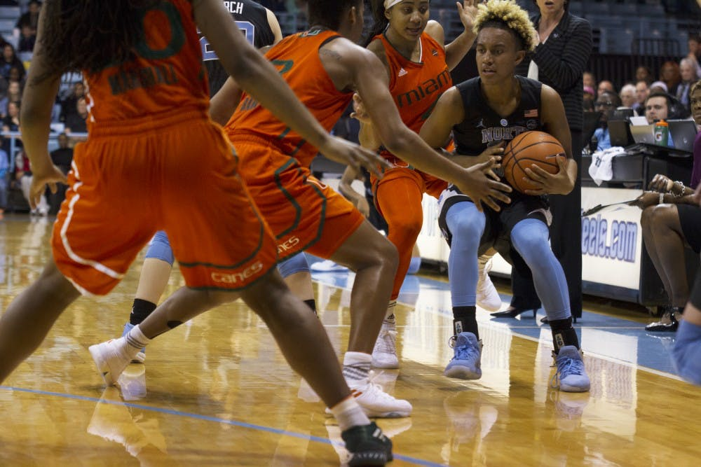 After honoring its 1998 team, UNC women's basketball falls flat against Miami
