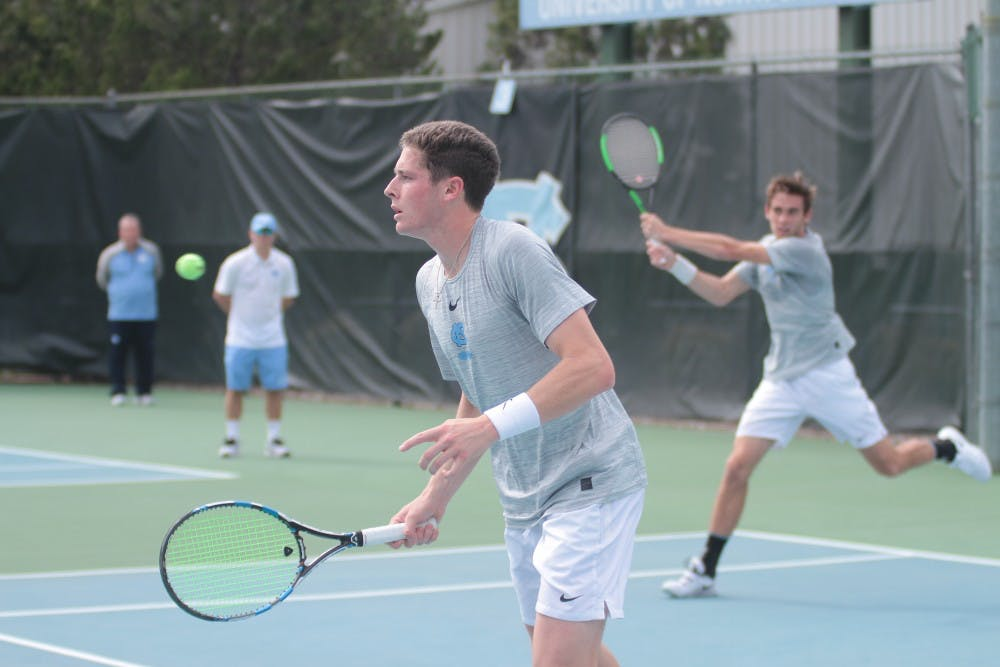 In top-five ACC matchup, Wake Forest takes down UNC men's tennis, 4-3