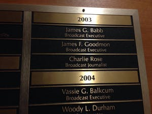Charlie Rose was inducted into the N.C. Journalism Hall of Fame in 1999.