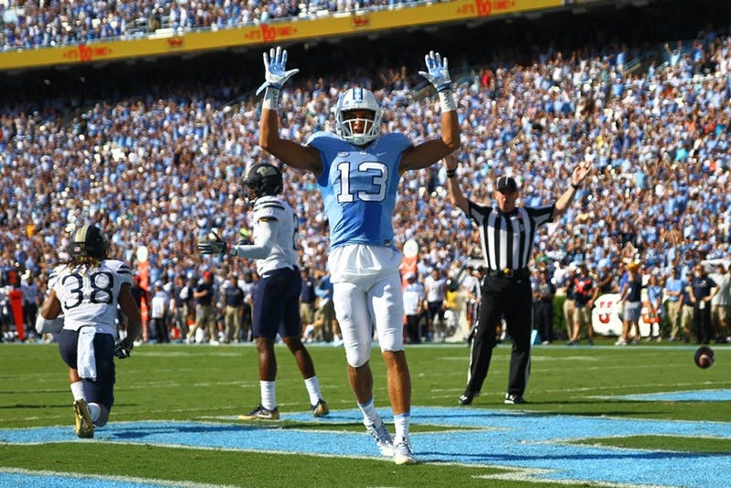 North Carolina football looks for replacements in the receiving corps