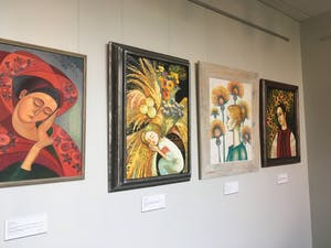 Image of Ukraine: Exploring Ukrainian Culture through Embroidery and Painting is on display until Dec. 8.