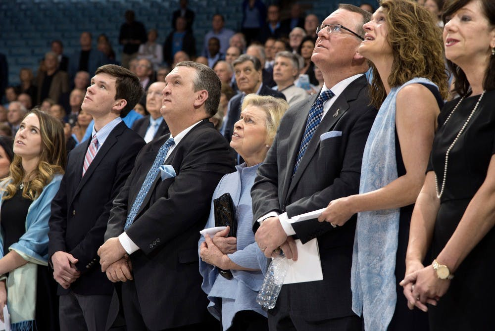Woody Durham's legacy honored, character remembered in memorial service