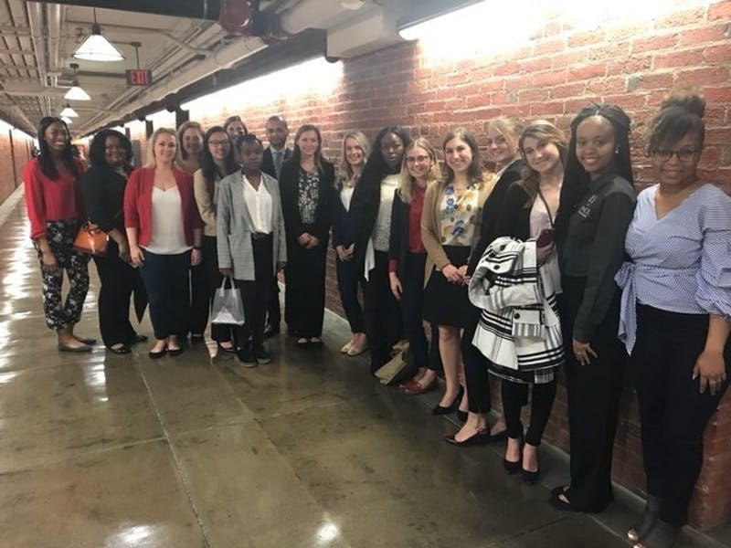 Fourty-eight North Carolina students, including seven from UNC-Chapel Hill joined hundreds of people in Washington, D.C. to meet members of Congress to lobby for reproductive rights and ask Congress to get rid of the Global Gag Rule.  Photo courtesy of Amanda Murray.