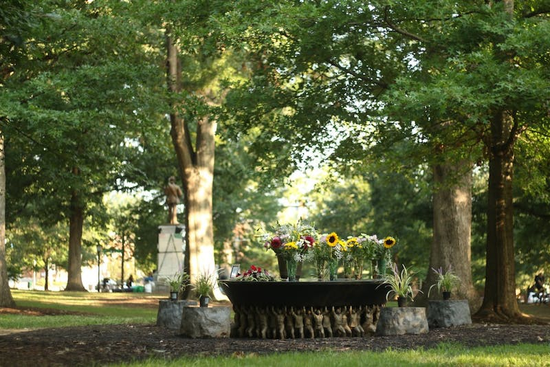 The Unsung Founders Memorial was a subject of debate earlier this year during the Silent Sam sit-in.