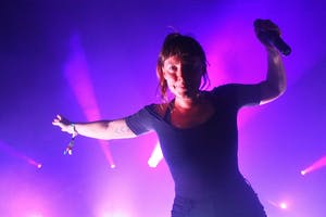 Amelia Meath of Sylvan Esso performs at Hopscotch Music Festival in Raleigh last September.