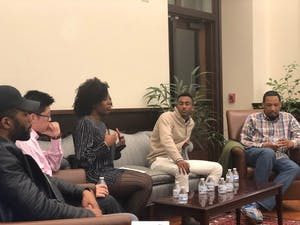 SHHO held a panel on Monday to discuss hip-hop and social justice. Photo by Amelia Keesler.