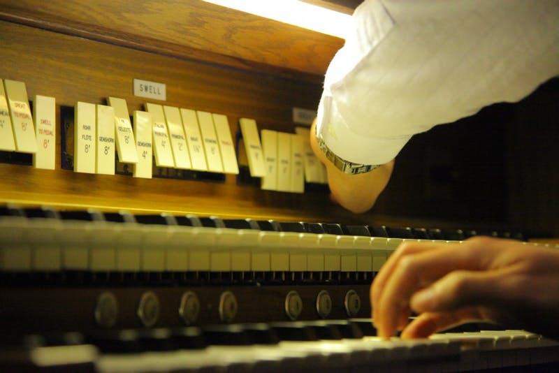 """It was during his freshman year at DSA that Lee was first introduced to the organ by his own piano teacher Fred Mason. """"A lot of what I already knew for the piano overlapped with the organ,"""" Treml said. By his senior year of high school, Lee was an active substitute for organists in the area."""
