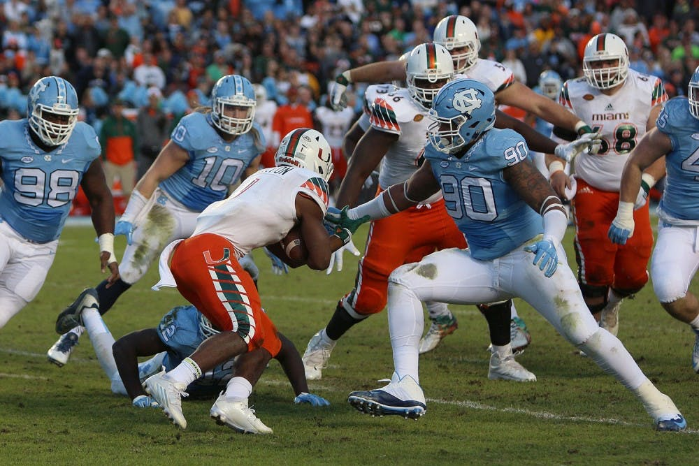 North Carolina football team will face its toughest opponent on Saturday against No. 8 Miami