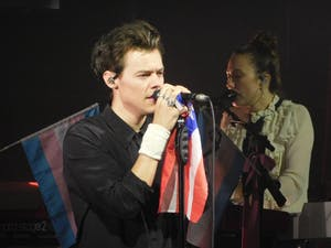 Harry Styles performed at the Daughters of the American Revolution Constitution Hall Sunday. Photo courtesy of Macie Spengler.