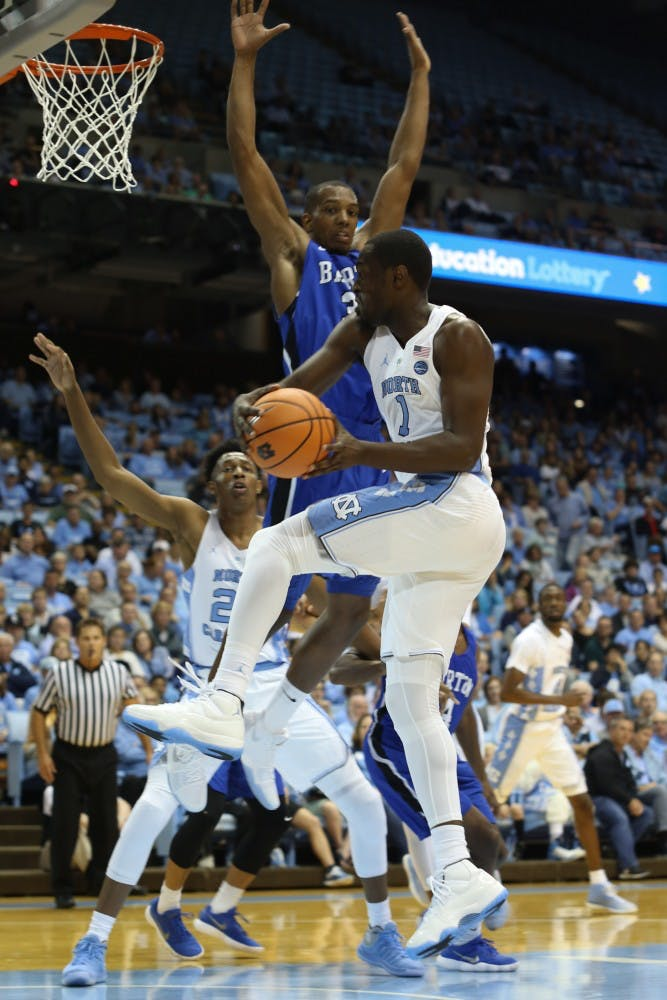 Theo Pinson plays usual role — and more — in exhibition win