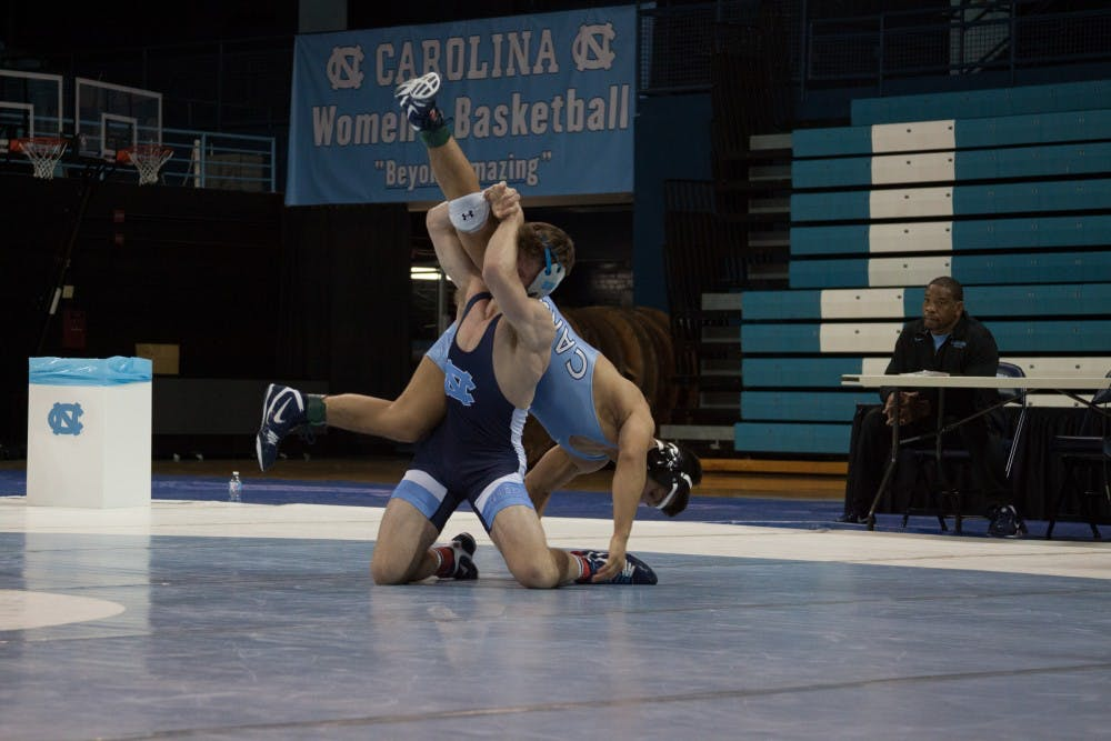 No. 24 UNC wrestling falls on the road against No. 17 Rutgers