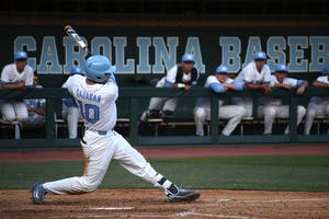 Zack Gahagan (10) hits the ball in a game against ECU on May 10, 2016.