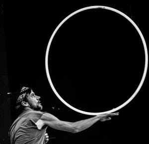 Jonathan Baxter is a Carrboro hooper and was introduced to the art by friend and hoop dance teacher Julia Hartsell. Photo courtesy of Jonathan Baxter.