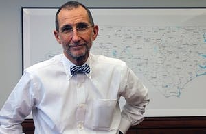 Dr. Roper is the dean of the UNC School of Medicine and the CEO of UNC Health Care.     DTH/Sydney Hanes
