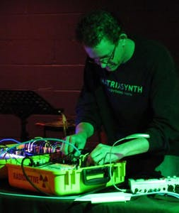 Doug Francis, known in the noise music scene as Isotroposphere, is performing at 919Noise Showcase this month. Photo courtesy of Ted Johnson.