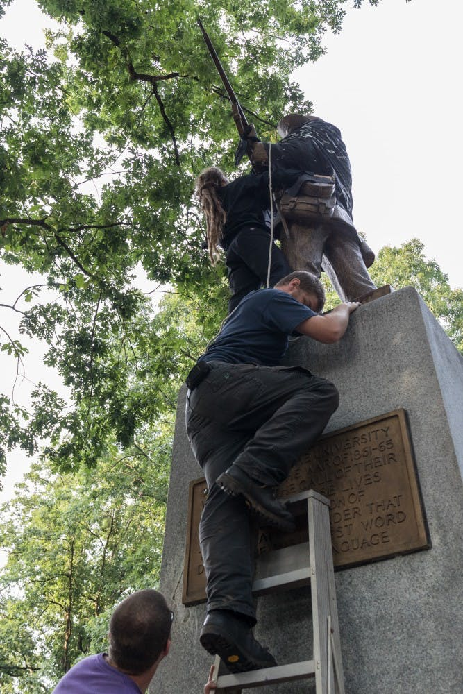 Confederate statues are coming down. What does that mean for Silent Sam?