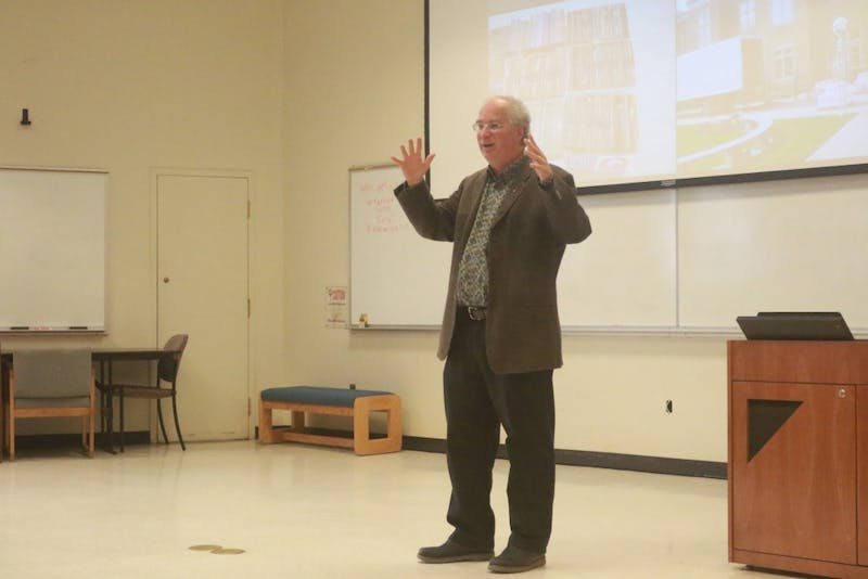 "​Digital Librarian and Internet Archive Founder, Brewster Kahle, delivers his lecture titled ""Universal Access to All Knowledge"" Friday afternoon in Manning Hall."